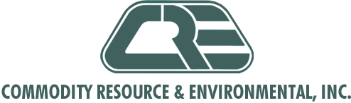 CRE, Commodity Resource & Environmental; Scrap X-ray film recycling, single use camera recycling Logo